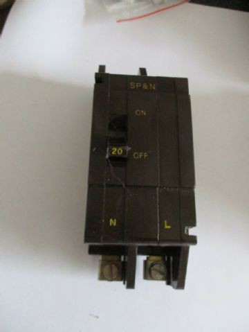 CRABTREE C50 20 AMP SP& N  MCB CIRCUIT BREAKER. 52/20